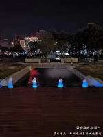 景观设计叠水夜景