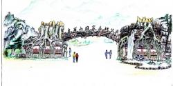 上海安徽滁州皇甫山国家森林公园大门设计