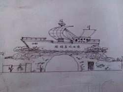 上海放鸡岛手工设计稿