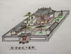 祠堂设计手稿