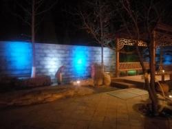 别墅庭院夜景