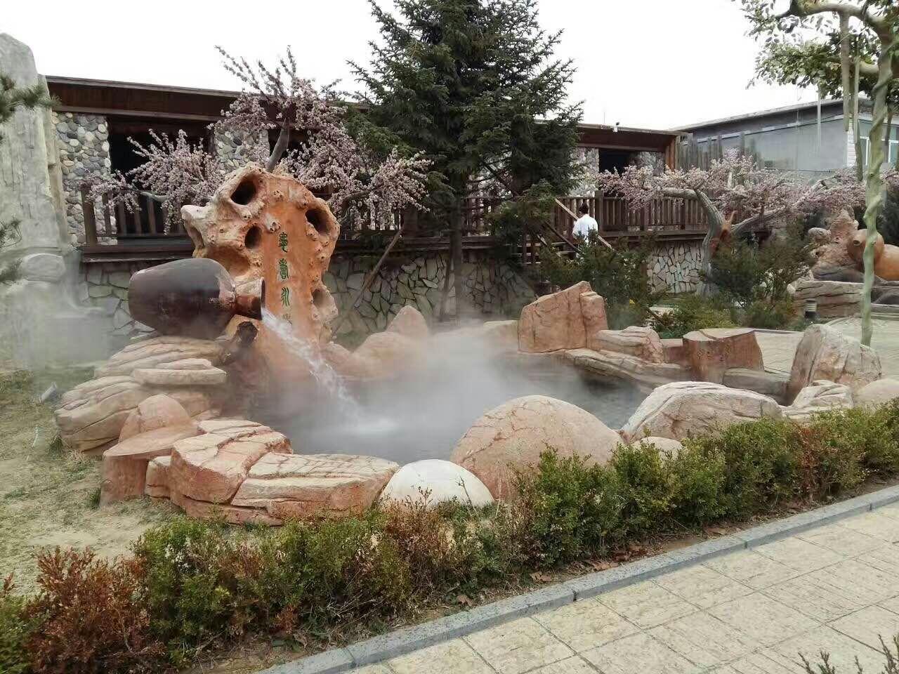 鹿泉温泉泡池设计